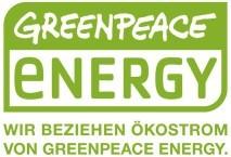 ökostrom von greenpeace-energy wird von Wiemann Immobilien empfohlen.